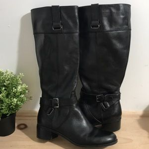 Bandolino women knee leather boots size 8- Black